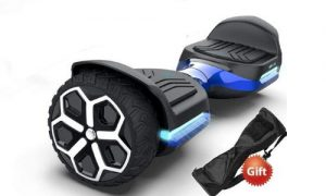 Hoverboard with seat attachment