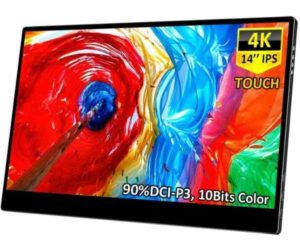 Corkea 4K Portable Touch Monitor,